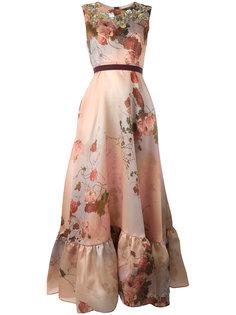 длинное платье с цветочным принтом Antonio Marras