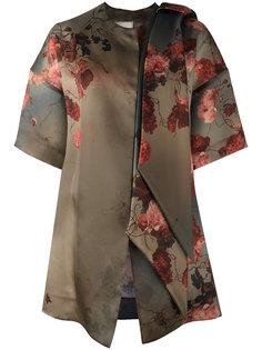 пальто шифт с цветочным принтом Antonio Marras