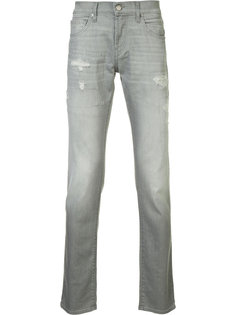 джинсы кроя слим с рваными деталями J Brand