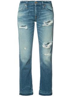 укороченные джинсы с рваными деталями NSF