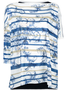 полосатая блузка с асимметричными рукавами Antonio Marras
