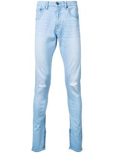 джинсы скинни с потертой отделкой monkey time