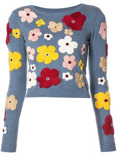 джемпер с цветочной вышивкой Alice+Olivia