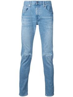 джинсы скинни с рваными деталями monkey time