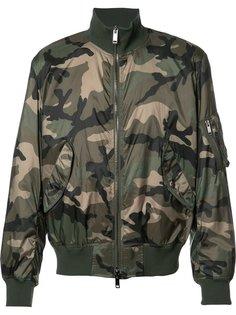 камуфляжная куртка бомбер Valentino
