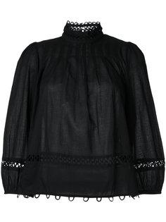 блузка с кружевной отделкой Apiece Apart