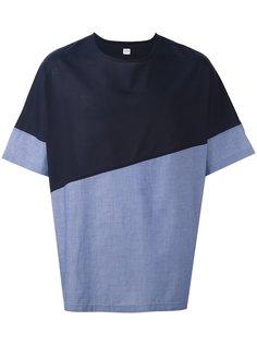 футболка Collection в стиле колор-блок  E. Tautz