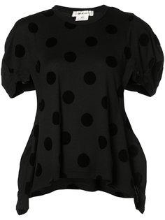 асимметричная футболка в горох Comme Des Garçons