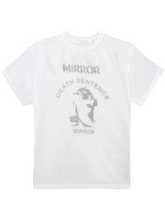 прозрачная футболка с принтом mirror Off-White