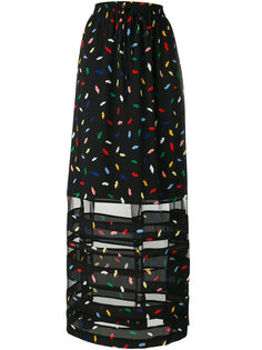 длинная юбка с мелким узором Sonia By Sonia Rykiel