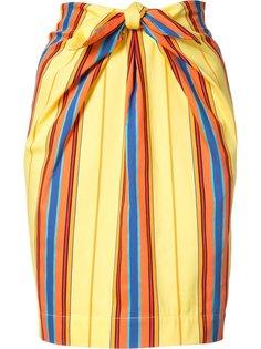 юбка в полоску с бантом Moschino