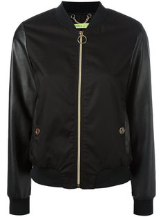 куртка бомбер с контрастными рукавами Versace Jeans