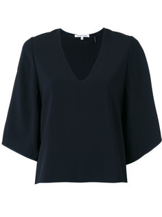 блузка с V-образным вырезом Helmut Lang
