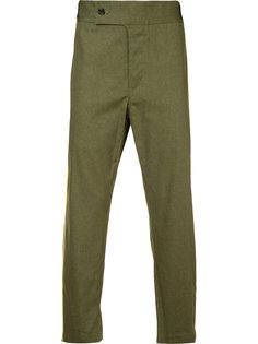 укороченные брюки с контрастной отделкой Ann Demeulemeester