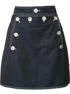 юбка А-образного силуэта на пуговицах Stella McCartney