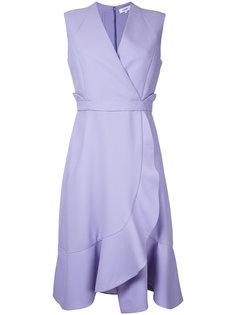 платье с запахом и оборками Carven