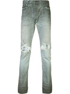 джинсы скинни с рваными деталями John Elliott