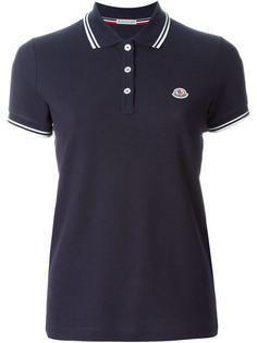 футболка-поло с контрастной окантовкой  Moncler