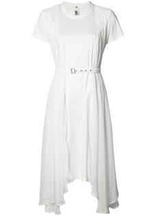 прозрачное асимметричное платье Comme Des Garçons Noir Kei Ninomiya