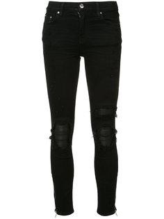 джинсы скинни с рваными деталями Amiri