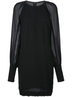 платье мини с прозрачными рукавами Martin Grant