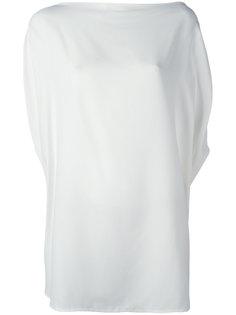 блузка шифт с вырезом-лодочкой Jil Sander