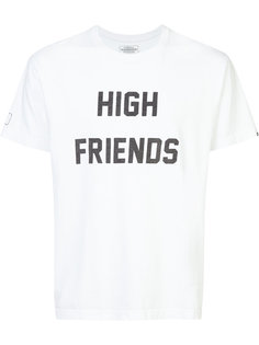 футболка с принтом high friends Fuct