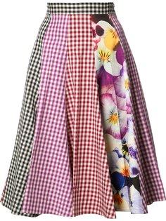 юбка с панельным дизайном Christopher Kane