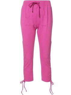 укороченные брюки на шнурке Moschino