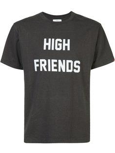футболка с принтом high friends  Fuct