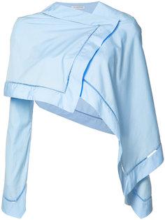 укороченная блузка с запахом J.W.Anderson
