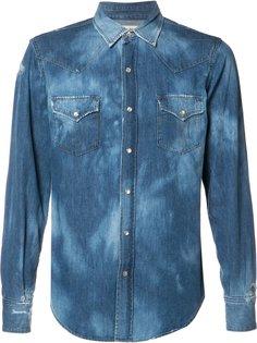 рубашка с выцветшим эффектом  Saint Laurent