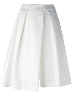 плиссированные асимметричные шорты Jil Sander