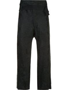 укороченные брюки с поясом Ann Demeulemeester