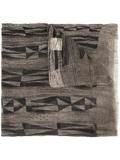 шарф с геометрическим узором Uma Wang