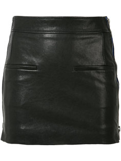 кожаная юбка с молниями Haider Ackermann