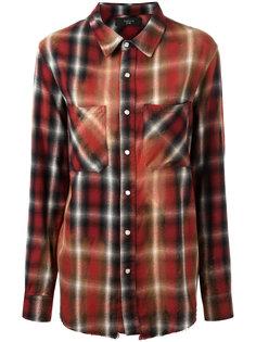 рубашка в клетку с накладными карманами Amiri