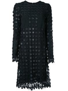 кружевное многослойное платье  Carven