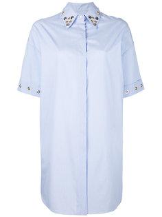 удлиненная рубашка с заклепками Mm6 Maison Margiela