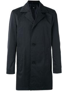 однобортное пальто Boss Hugo Boss