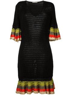 трикотажное платье с V-образным вырезом Marco De Vincenzo