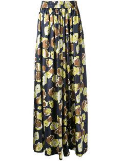 брюки палаццо с цветочным узором Martin Grant