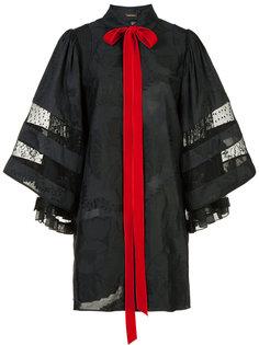 жаккардовое платье-рубашка короткой длины Adam Lippes