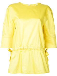 блузка с присборенной талией Jil Sander