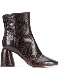 ботинки с эффектом крокодиловой кожи Ellery