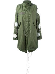 пальто в военном стиле с отделкой цветами Night Market