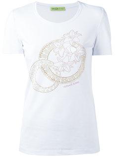 футболка с цветочными элементами Versace Jeans