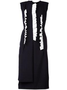 двухслойное платье длины миди Comme Des Garçons