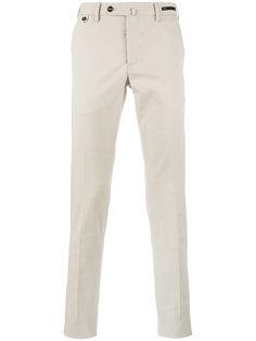 однотонные узкие брюки Pt01
