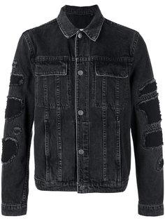 джинсовая куртка с необработанными краями Helmut Lang